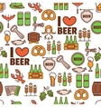 Seamless background with Oktoberfest elements vector image