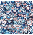 Fish scale made of circles seamless pattern vector image