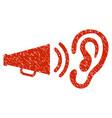 listen sound grunge icon vector image