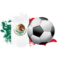 Mexico Soccer Grunge Design vector image vector image