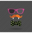 hipster halloween man with glasses mustache vector image
