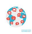 224world communication vector image