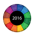 colorful round calendar for 2016 year vector image
