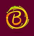 B letter monogram design elements vector image