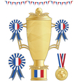 france football trophy vector image vector image