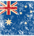 Australia retro flag vector image vector image