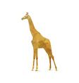 Abstract giraffe vector image