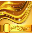 background fabric satin gold ornament vector image