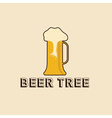 beer tree concept design template vector image
