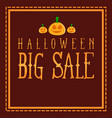 halloween sale design background collection vector image