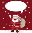 Happy Santa Claus Greeting for Christmas vector image