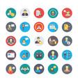 human resources flat circular icons set 1 vector image