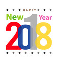 merry christmas happy new year 2018 2019 vector image