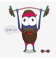 Monster weightlifter vector image