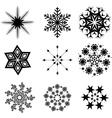 Snowflacke collection vector image