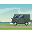 truck van delivery shipping mail service landscape vector image