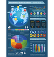 Infographic elements with global map vector image vector image