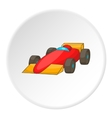 Red sport car icon cartoon style vector image