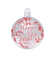 Christmas New Year festive red inscription on a vector image