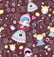 texture trendy little girls vector image vector image