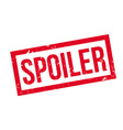 Spoiler rubber stamp vector image
