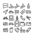 Summer and Travel Icons 8 vector image