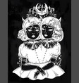 gothic witchcraft siamese twins vector image