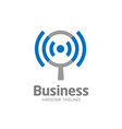 Wifi search logo concept vector image