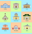 icons set of colorful public vector image