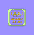 sign symbol olympics games vector image vector image