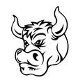 Cartoon bull vector image