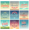 travel set vintage vector image vector image