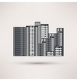 Residential complex Icon in a flat style vector image