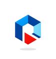 polygon business logo vector image