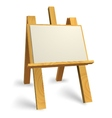 wooden easel vector image vector image