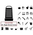 icon set utensils vector image