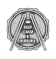 Snare drum with Keep calm and rlrrlrll inscription vector image