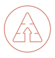 Pyramid with arrow up line icon vector image