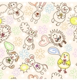 Childe drawing seamless pattern vector image vector image