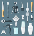 barman equipment flat set vector image