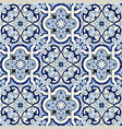 gorgeous seamless pattern white blue moroccan vector image