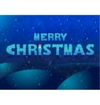 Ice inscription Merry Christmas Design for vector image