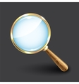 Magnifying glass on dark background vector image