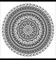 ornament monochromatic card with mandala vector image