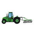 plowing tractor agriculture vehicle concept vector image