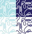 seamless background with marine knots vector image