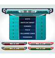 design elements scoreboard vector image