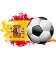 Spain Soccer Grunge Design vector image