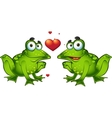 Green frogs in love vector image vector image