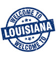 welcome to louisiana blue stamp vector image
